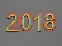 New Year 2018 Royalty Free Stock Photo