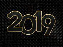 New Year 2019 - 3D Rendered Image. Happy New Year 2019 - 3D Rendered Image Design Royalty Free Stock Photos