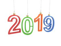 New Year 2019 - 3D Rendered Image. Happy New Year 2019 - 3D Rendered Image Design Stock Photo
