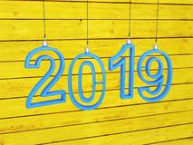 New Year 2019 - 3D Rendered Image. Happy New Year 2019 - 3D Rendered Image Design Royalty Free Stock Photography