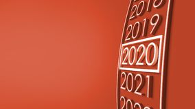 2020 3d rendering. New year 2020 3d rendering Stock Images