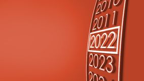 2022 3d rendering. New year 2022 3d rendering Royalty Free Stock Photography