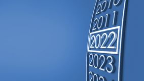 2022 3d rendering. New year 2022 3d rendering Royalty Free Stock Photos