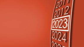2023 3d rendering. New year 2023 3d rendering Royalty Free Stock Photo