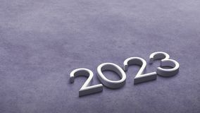 2023 3d rendering. stock photography