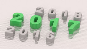 2017 new year. 3d rendering Stock Illustration