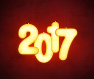 New year 2017, 3d rendering Royalty Free Stock Photography