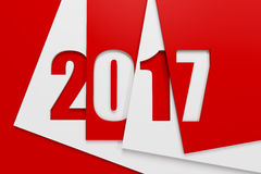 New year 2017, 3d rendering Royalty Free Stock Image