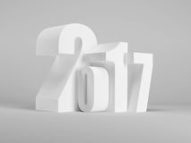 New year 2017, 3d rendering Royalty Free Stock Images
