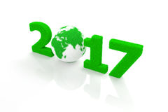 New Year 2017. 3D Rendering Image Royalty Free Illustration