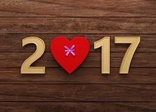 New Year 2017. 3D Rendering Image Royalty Free Stock Images