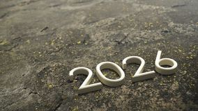 2026 3d rendering. stock illustration