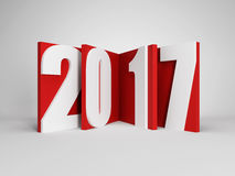 New year 2017, 3d rendering Stock Photo