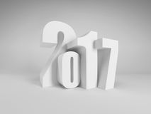 New year 2017, 3d rendering. New year 2017, 3d render royalty free illustration