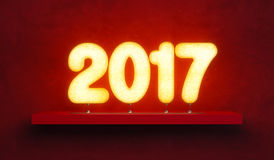New year 2017, 3d rendering. New year 2017, 3d render stock illustration