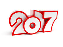 New year 2017, 3d rendering Stock Images
