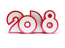 Sign of new year 2018 Stock Photo