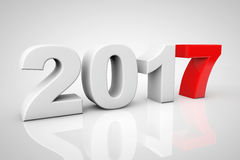 New Year 2017 3d Sign. 3d Rendering Royalty Free Stock Images