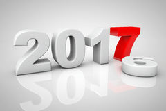 New Year 2017 3d Sign. 3d Rendering Royalty Free Stock Image