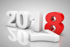 New Year 2018 3d Sign. 3d Rendering Royalty Free Stock Photography