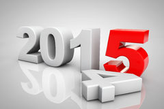 New Year 2015 3d Sign Stock Photos
