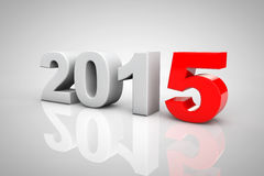 New Year 2015 3d Sign. On a grey background royalty free illustration