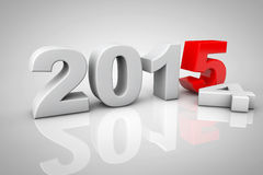 New Year 2015 3d Sign. On a grey background vector illustration