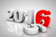New Year 2016 3d Sign. On a grey background Royalty Free Stock Photography