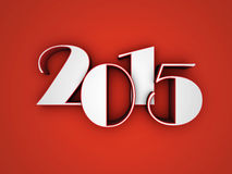 New Year 2015. 3D Text Stock Photography