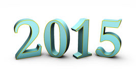 New Year 2015. 3D Text vector illustration