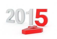 New Year 2015. 3D Text Stock Images