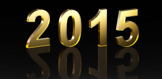 New Year 2015. 3D Text Stock Image