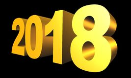 New 2018 Year 3d text Royalty Free Stock Photo
