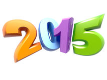 New Year 2015. 3D text on New Year 2015 ,great for print ,presentation or web royalty free illustration