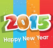 New Year 2015. 3D text on New Year 2015 ,great for print ,presentation or web Royalty Free Stock Photography