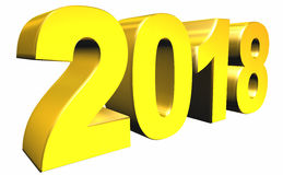 New 2018 Year 3d text Stock Photo