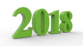 New year 2018 3d. With white background Stock Image