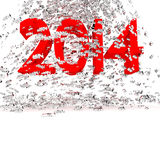 New year 2014. 3d 2014 new year in white concept Royalty Free Stock Photos