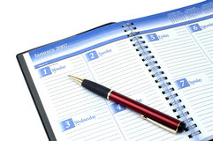 New Year Date Book. And pen royalty free stock photos