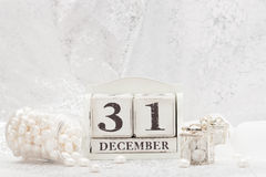 New Year Date On Calendar. December 31. Christmas Royalty Free Stock Images