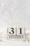 New Year Date On Calendar. December 31. Christmas Royalty Free Stock Photos