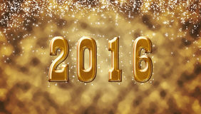 New 2016 Year. Date golden background Stock Image
