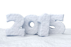 New Year Date 2015 made of snow. Date New Year 2015 made of snow isolated on white background 3d illustration vector illustration