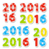 2016 New Year date. For Your design Stock Images