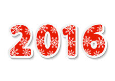 2016 New Year date. For Your design Stock Photos