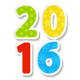 2016 New Year date Royalty Free Stock Photo