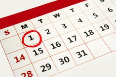 New year day marked with red marker Royalty Free Stock Photos