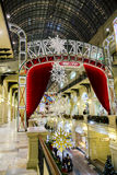 New Year decor in GUM department store Royalty Free Stock Image