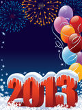New Year decoration. New Year 2013 decoration with copy space for your message vector illustration