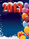 New Year decoration. New Year 2013 decoration with copy space for your message Stock Image